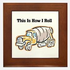 How I Roll (Cement Truck) Framed Tile