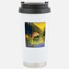 Rainbow Trout Jumping Travel Mug
