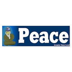Blue Guru - Peace Bumper Bumper Sticker