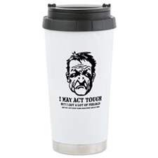 tough_guy_feelings_blk Travel Mug