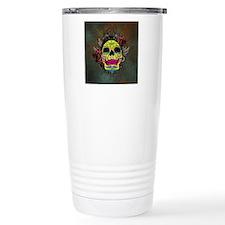 Sugar Skull sticker Travel Coffee Mug