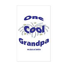 One Cool Grandpa Rectangle Decal