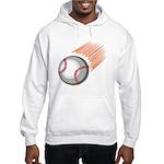 Flaming Baseball Hooded Sweatshirt
