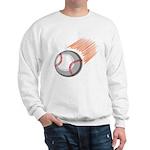 Flaming Baseball Sweatshirt