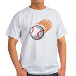 Flaming Baseball Light T-Shirt