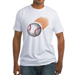 Flaming Baseball Fitted T-Shirt