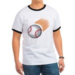 Flaming Baseball Ringer T