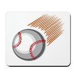 Flaming Baseball Mousepad