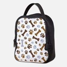 Dog Paw Prints Pattern Neoprene Lunch Bag