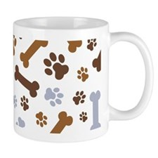Dog Paw Prints Pattern Mug