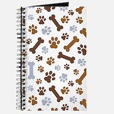 Dog Paw Prints Pattern Journal