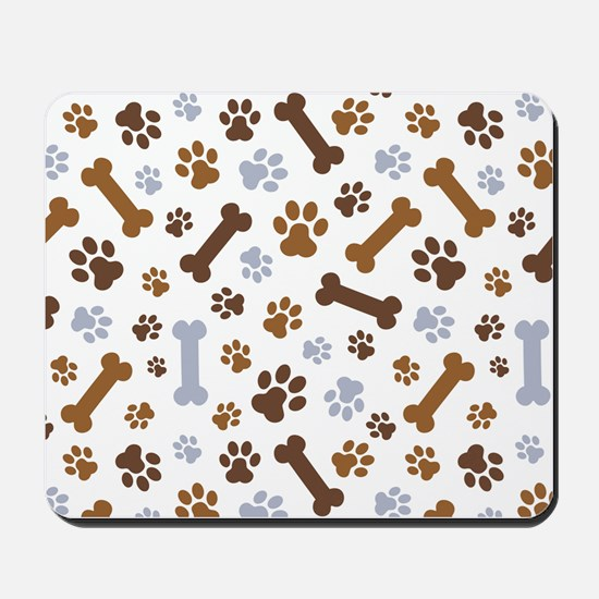 Dog Paw Prints Pattern Mousepad
