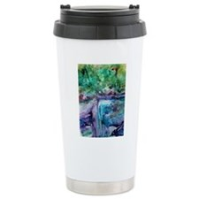 winter waterfall Travel Mug