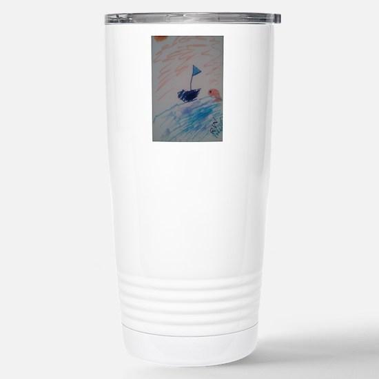 Sailboat Stainless Steel Travel Mug