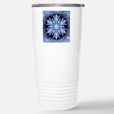 October Snowflake - squ Stainless Steel Travel Mug