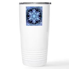 October Snowflake - squ Travel Mug