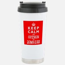 KEEP CALM but OUTRUN the ZOMBIES -wr2-- Travel Mug