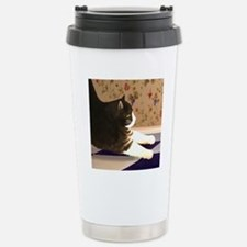 Cat stretching Stainless Steel Travel Mug