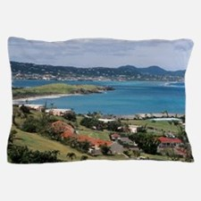 View of Christiansted from above the B Pillow Case