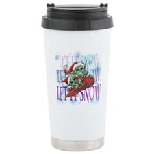 snow copy Travel Coffee Mug