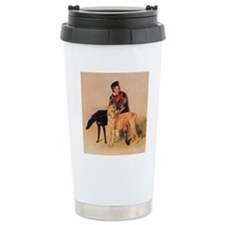 BoyandDeerhound Travel Coffee Mug