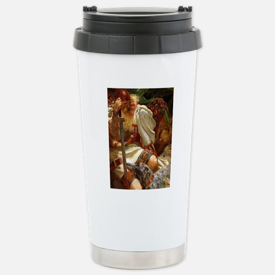 DeerhoundandKnight9x12_ Stainless Steel Travel Mug