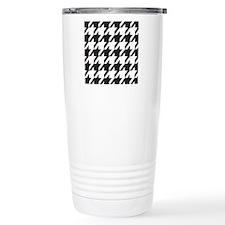houndsooth square 1 Travel Mug