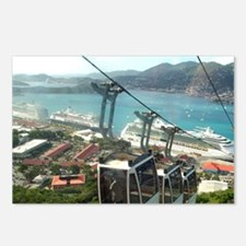 St. Thomas Skyride. View  Postcards (Package of 8)