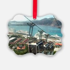 St. Thomas Skyride. View of tram  Ornament
