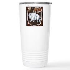 White Buffalo Shield -b Travel Mug