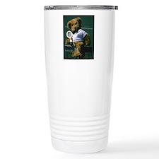 teddy bear tennis playe Travel Mug