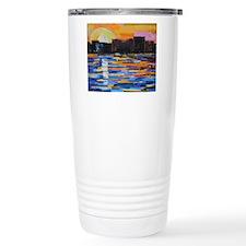 Sunset in the City Travel Coffee Mug