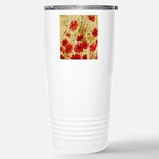 Red Grunge Pillow Travel Mug