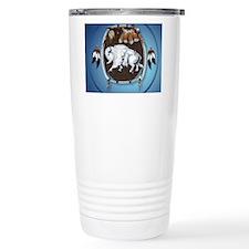circle White Buffalo Sh Travel Coffee Mug