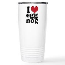 I Heart Eggnog Travel Mug