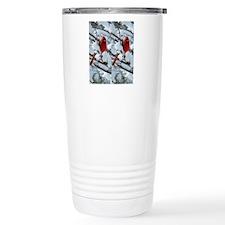 Cardinal Winter Travel Mug