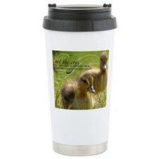 Fly and Follow Quote on Travel Mug