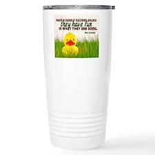 Succeed Quote on Jigsaw Travel Mug