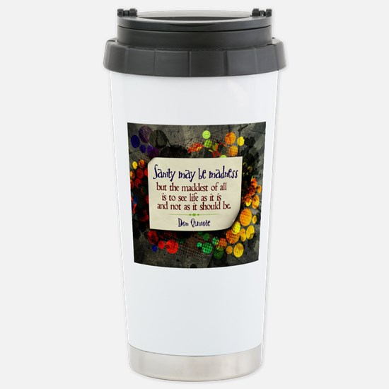 See Life Quote on Jigsa Stainless Steel Travel Mug