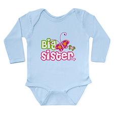 Big Sister paterfly Long Sleeve Infant Bodysuit