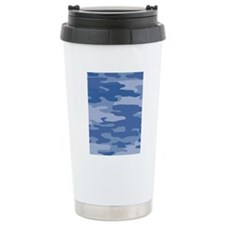 Camo_Blue_78 Travel Mug