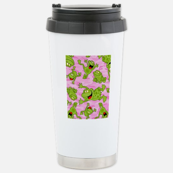 Leaping Frogs Stainless Steel Travel Mug
