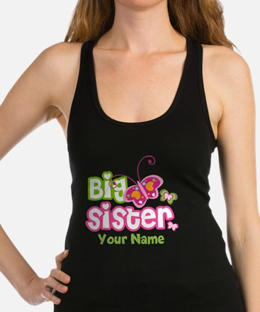 Custom Big Sister paterfly Racerback Tank Top