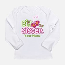 Custom Big Sister pater Long Sleeve Infant T-Shirt