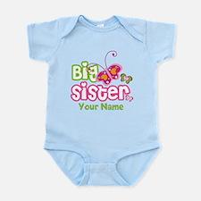 Custom Big Sister paterfly Infant Bodysuit