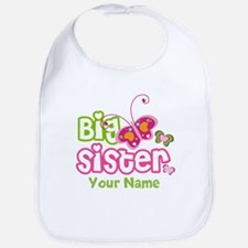 Custom Big Sister paterfly Bib