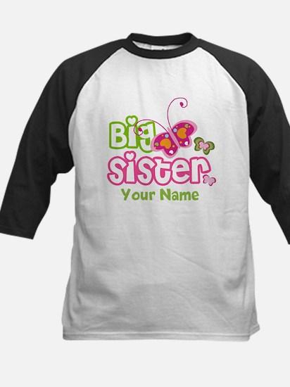 Custom Big Sister paterfly Kids Baseball Jersey