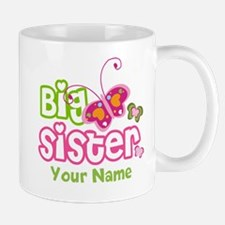 Custom Big Sister paterfly Mug