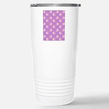 Pink Hippo Purple Flip  Stainless Steel Travel Mug