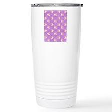 Pink Hippo Purple Flip  Travel Coffee Mug